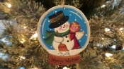 SNOW GLOBE-SNOWMAN AND ANGEL