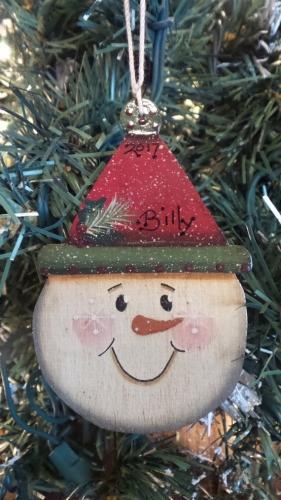 BILLY SNOWMAN FACE