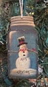 JAR WITH SNOWMAN
